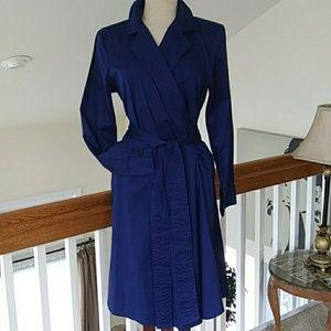 Talbot's NWT blue wrap dress